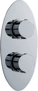 "Ultra Ecco 3/4"" Twin Concealed Thermostatic Shower Valve With Diverter."