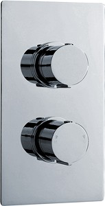 Ultra Ecco Twin Concealed Thermostatic Shower Valve (Chrome).