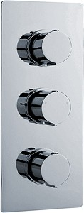 Ultra Ecco Triple Concealed Thermostatic Shower Valve (Chrome).