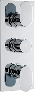 Ultra Flume Triple Concealed Thermostatic Shower Valve (Chrome).