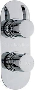 Hudson Reed Grace Twin Concealed Thermostatic Shower Valve (Chrome).