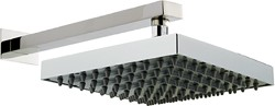 Component Helix Square Shower Head & Wall Mounting Arm. 250x250mm.