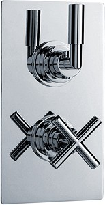 "Ultra Helix 3/4"" Twin Concealed Thermostatic Shower Valve With Diverter."