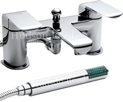 Hudson Reed Hero Bath Shower Mixer Tap With Shower Kit (Chrome).