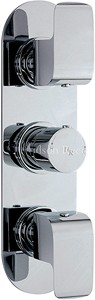 Hudson Reed Hero Triple Concealed Thermostatic Shower Valve (Chrome).