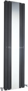 Hudson Reed Radiators Sloane Mirror Radiator (Anthracite). 381x1500mm.