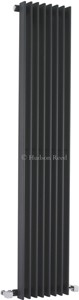 Hudson Reed Radiators Fin Radiator (Anthracite). 304x1500mm. 3172 BTU.