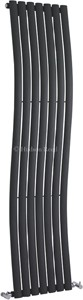 Hudson Reed Radiators Revive Wave Radiator (Anthracite). 413x1785mm.