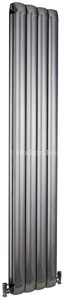 Hudson Reed Radiators Nirvana Designer Radiator (Silver). 335x1800mm.