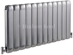 Hudson Reed Radiators Nirvana Designer Radiator (Silver). 1015x600mm.