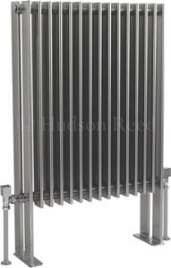 Hudson Reed Radiators Fin Floor Mounted Radiator (Silver). 570x900mm.