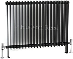 Hudson Reed Radiators Province Floor Mounted Radiator (Black). 880x690.