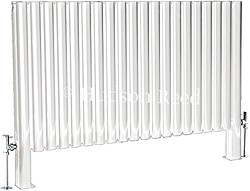 Hudson Reed Radiators Revive Floor Mounted Radiator (White). 1180x600.