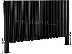 Hudson Reed Radiators Revive Floor Mounted Radiator (Black). 1180x600.