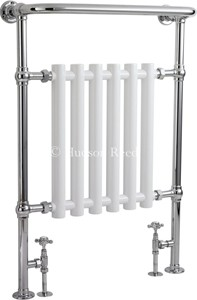 HR Traditional Regent Heated Towel Rail (Chrome & White). 675x960.
