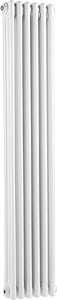 Ultra Colosseum 3 Column Vertical Radiator (White). 291x1500mm.