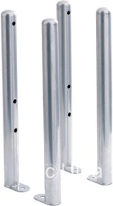 Ultra Colosseum 4 x Floor Mounting Colosseum Radiator Legs (Silver).