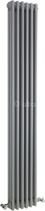 Ultra Colosseum Triple Column Radiator (Silver). 291x1800mm.