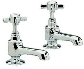 Ultra Beaumont Heavy Pattern Basin taps (Pair, Chrome)