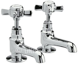 Ultra Beaumont Long Nose Bath taps (Pair, Chrome)