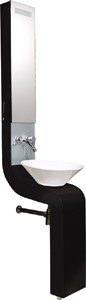 Hudson Reed Sass Vanity Unit With Cabinet, Basin & Tap (Black).  250x2010mm.