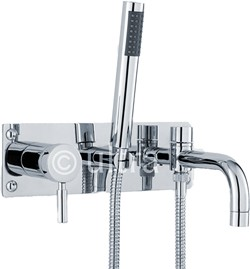 Ultra Helix Wall Mounted Bath Shower Mixer Tap With Shower Kit (Chrome).