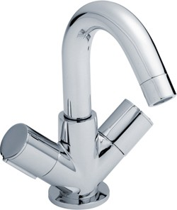 Ultra Ecco Basin Tap With Swivel Spout & Push Button Waste (Chrome).