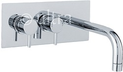 Ultra Quest Wall Mounted Thermostatic Basin Tap (Chrome).