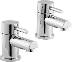 Ultra Quest Basin Taps (Pair, Chrome).