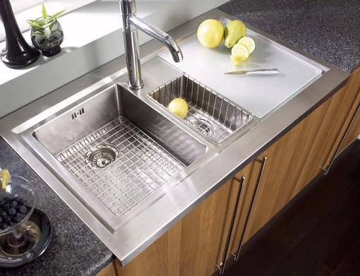 Bistro 1.5 bowl sit on work centre with right hand drainer & extras ...