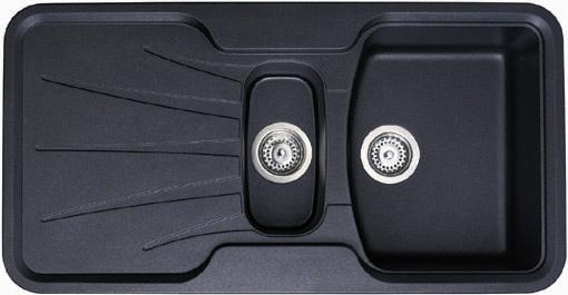 Korona 1.5 bowl rok metallic black composite kitchen sink. Astracast ...