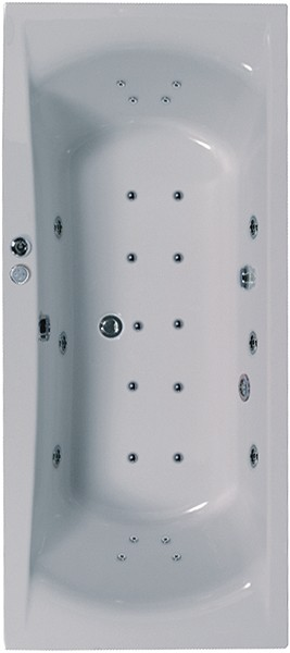 Eclipse Aquamaxx Whirlpool Bath. 24 Jets. 1800x800mm. additional image