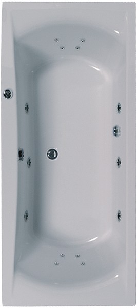 Double Ended Turbo Whirlpool Bath. 14 Jets. 1900x900mm. additional image
