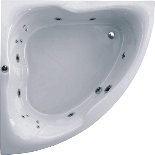 Corner Turbo Whirlpool Bath. 14 Jets. 1500x1500mm. additional image