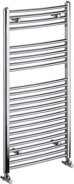 Gina Curved Electric Radiator (Chrome). 600x1750mm. additional image