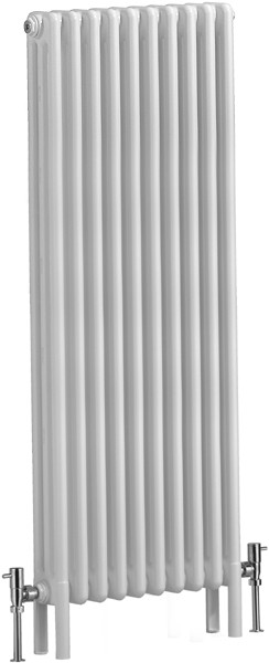 Nero 3 Column Electric Radiator (White). 490x1500mm. additional image