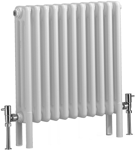 Nero 3 Column Electric Radiator (White). 535x600mm. additional image