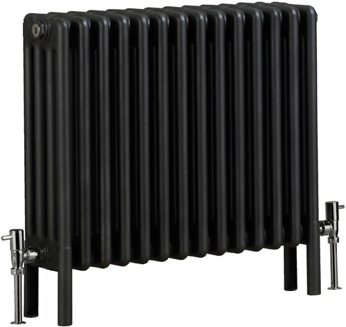 Nero 4 Column Bathroom Radiator (Gun Metal). 670x600mm. additional image
