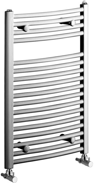 Rosanna 400x600 Electric Thermo Curved Radiator (Chrome). additional image