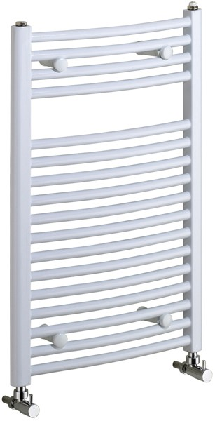 Rosanna 400x600mm Electric Curved Radiator (White). additional image