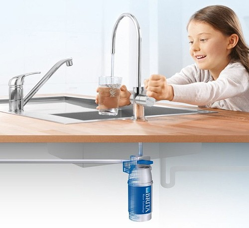 On Line Active Plus Filter Kitchen Tap (Stainless Steel). additional image
