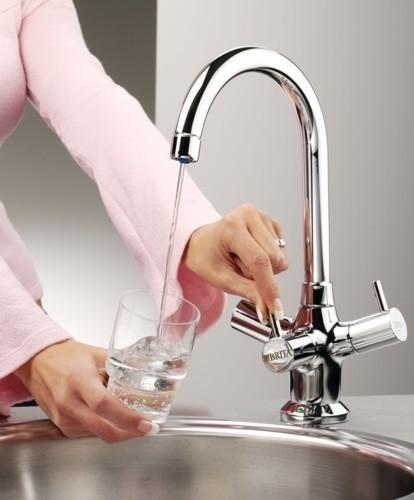 Titanium Modern Water Filter Kitchen Tap Chrome Brita