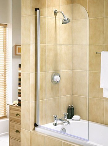 Chrome Bath Screen With Rise And Fall Hinges Galaxy