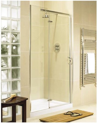 Allure 1200 left hand inline hinged shower enclosure door for 1200 hinged shower door