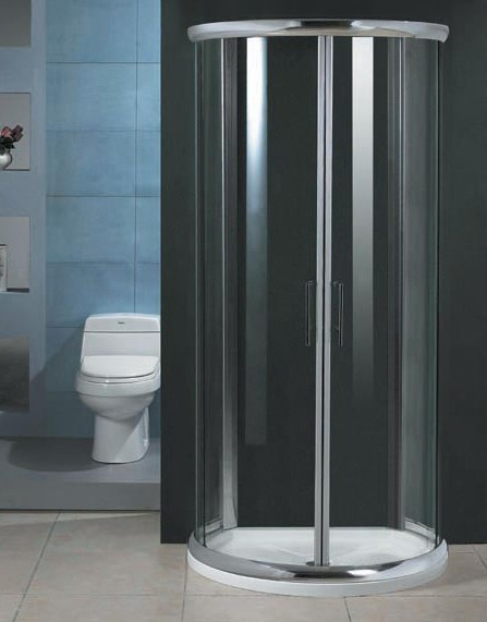 Milano D Shaped Shower Enclosure With Slimline Shower Tray
