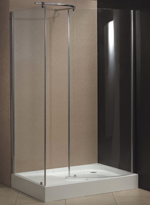 Milano 1200x800 walk in shower enclosure and tray right for Walk in shower tray