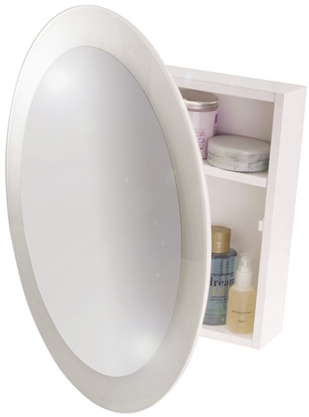 round mirror bathroom cabinet mirror bathroom cabinet 525x525x105mm croydex 20234