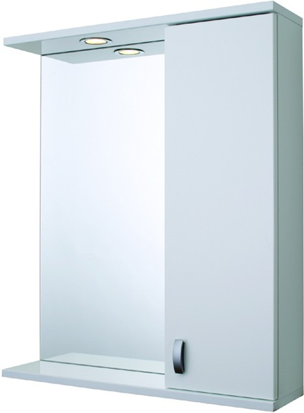 Mirror Bathroom Cabinet, Light & Shaver.  600x710x150mm. additional image