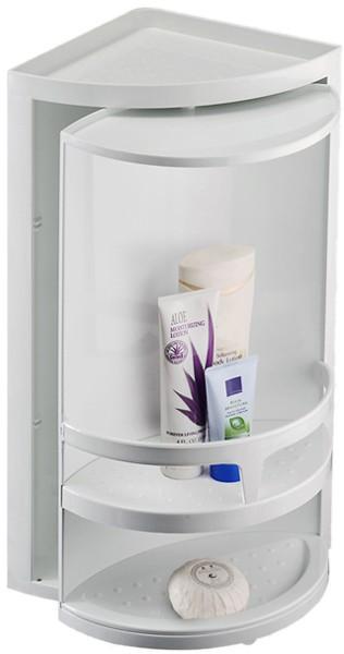 Corner Rotating Bathroom Storage Unit 300x490x210mm Croydex Cabinets Cr Cabinet30 Truerooms Com