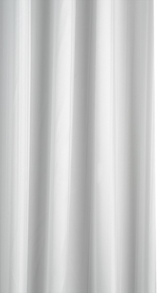 Shower Curtain With PVC Liner & Rings (White). additional image